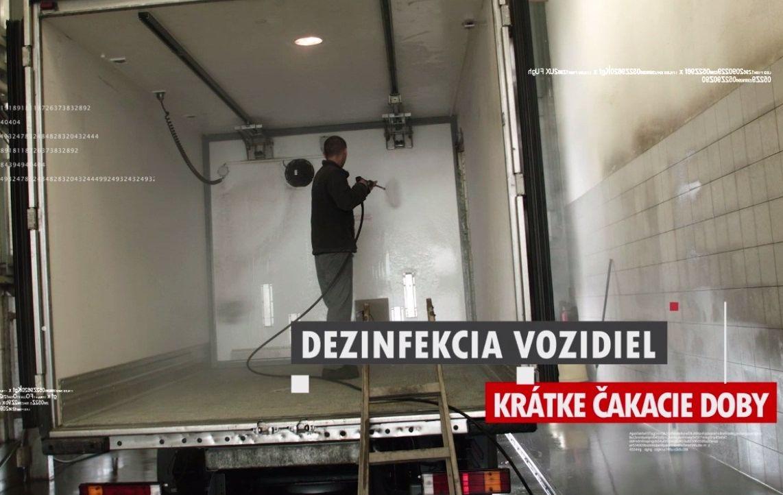 Dezinfekcia vozidiel - camionservis.sk